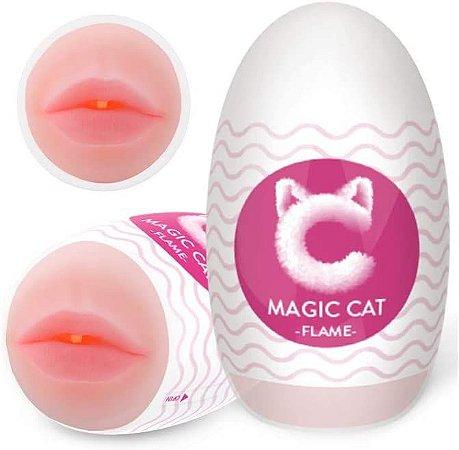 MASTURBADOR EGG EM CYBERSKIN FORMATO BOCA FLAME MAGIC CAT