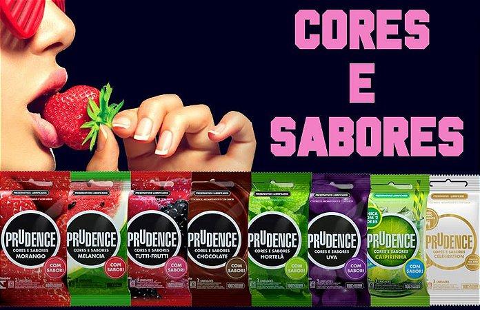 PRESERVATIVOS CORES E SABORES 3UN PRUDENCE