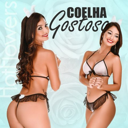 MINI FANTASIA COELHA GOSTOSA HOT FLOWERS