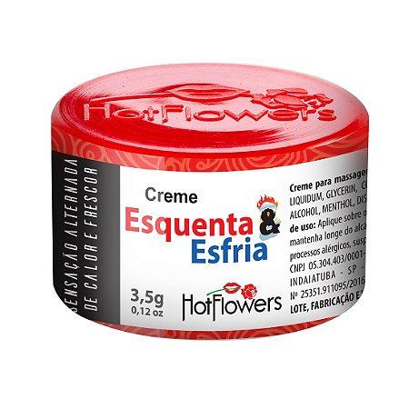 CREME EXCITANTE ESQUENTA E ESFRIA UNISSEX 3,5G HOT FLOWERS
