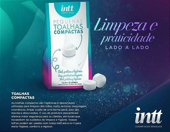 TOALHAS COMPACTAS COM 10 UNIDADES INTT