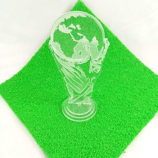 Troféu 2D 10cm - Acrílico Cristal