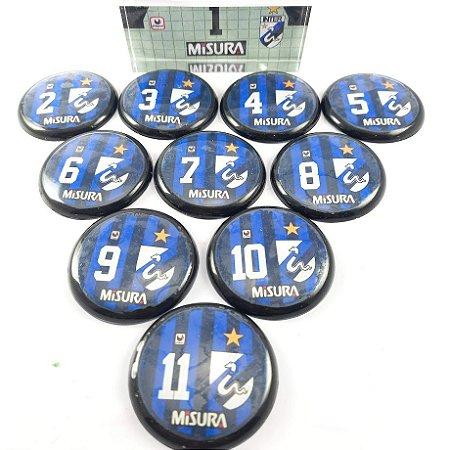Time de Futebol de Botão - Vidrilha 45mm - Inter de Milão 89