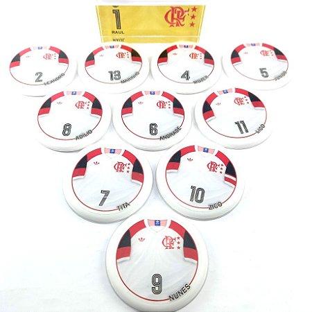 Time De Futebol De Botão - Vidrilha 55mm - Flamengo 81-2
