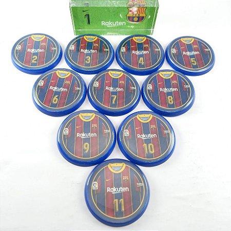 Time Futebol de Botão - Acrílico Cristal 49mm - Barcelona