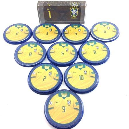 Time Futebol de Botão - Acrílico Cristal 49mm - Brasil