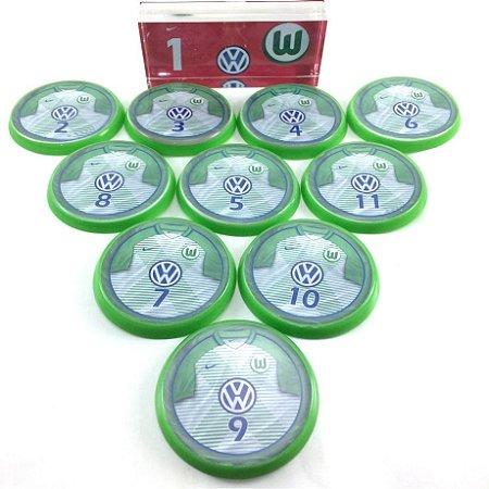 Time Futebol de Botão - Acrílico Cristal 49mm - Wolfsburgo