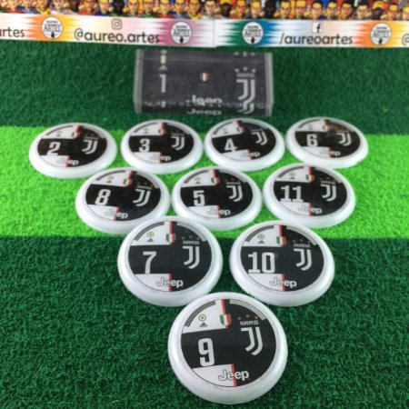 Time De Futebol De Botão - Vidrilha 45mm - Juventus