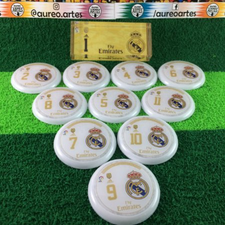 Time De Futebol De Botão - Vidrilha 45mm - Real Madrid