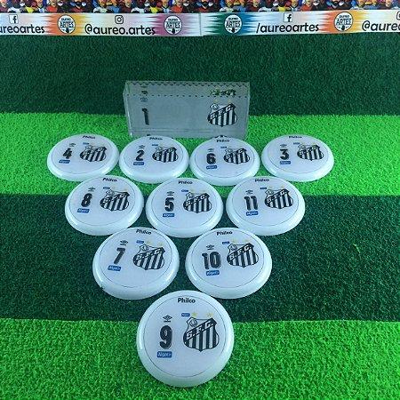 Time De Futebol De Botão Santos - Vidrilha 45mm