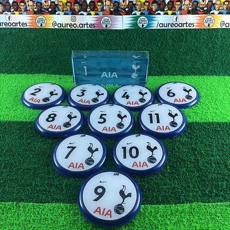 Time De Futebol De Botão Tottenham - Vidrilha 45mm