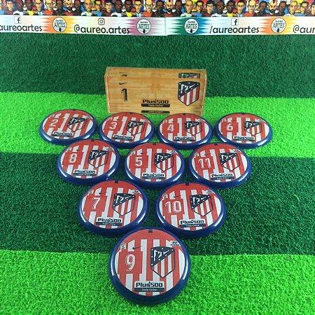 Time De Futebol De Botão - Vidrilha 45mm - Atlético de Madrid