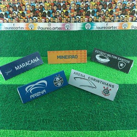 Placa de Publicidade para Mesa de Futebol de Botão - Liga e Estádios