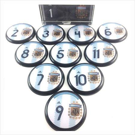 Time De Futebol De Botão - Vidrilha 45mm - Seleções