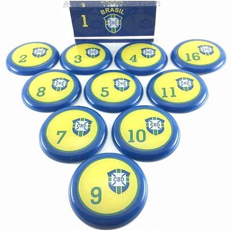 Time De Futebol De Botão - Vidrilha 45mm - Seleções Lendárias