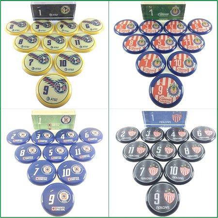 Time De Futebol De Botão - Vidrilha 45mm - Clubes Centro-Norteamericanos