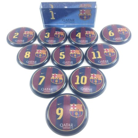 Time De Futebol De Botão - Vidrilha 45mm - Clubes Lendários - Europa