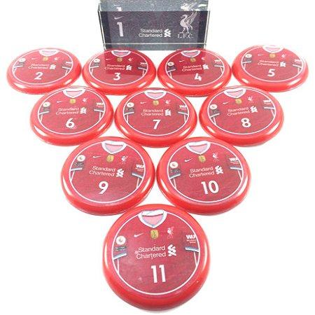 Time De Futebol De Botão - Vidrilha 55mm - Liverpool