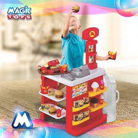Lanchonete Mercadinho Hamburgueria Sorvete Magic Toys 8046