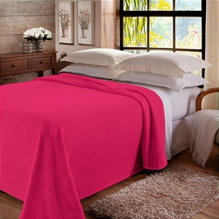 Manta Dyuri Unicolor em Rolo C/ Cinta 220X240 cm Pink  Jolitex
