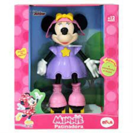 Boneca Minnie Patinadora Com Som - Elka 950