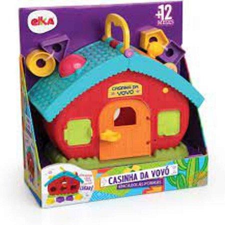 Brinquedo Educativo Casinha da Vovó Encaixe Formas ELKA1052