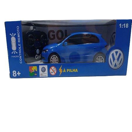Carrinho Controle Remoto Gol Azul 1:18 Rc Cks 28085