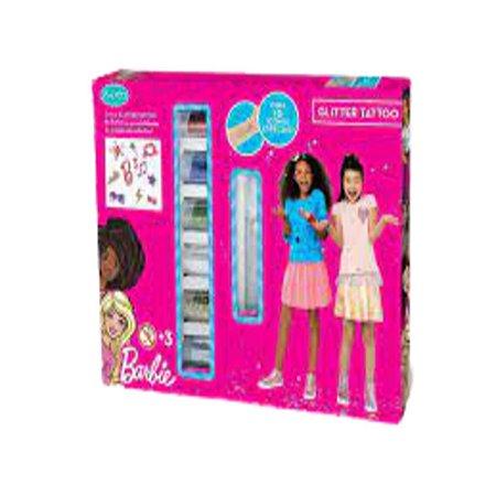 Tatuagem Temporaria Infantil Glitter Barbie Tattoo Mattel