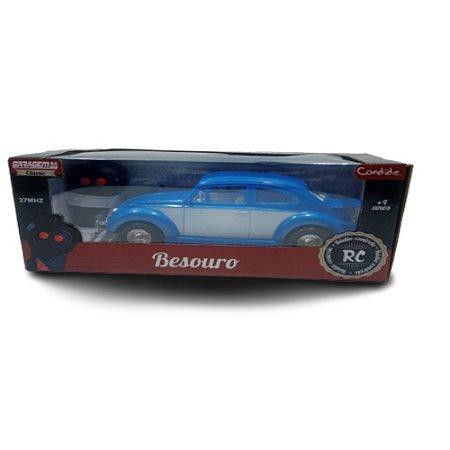 Carrinho de Controle Remoto Besouro Fusca Azul7898954082721 Candide 3536