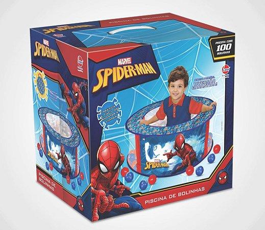 PISCINA DE BOLINHAS SPIDER-MAN COM 100 BOLINHAS LIDER- 2053