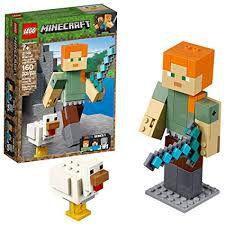 LEGO Minecraft Grande Alex com a Galinha