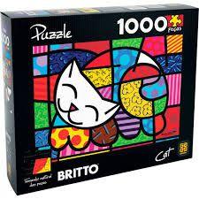 QUEBRA-CABEÇA PUZZLE 1000 ROMERO BRITTO CAT - GROW