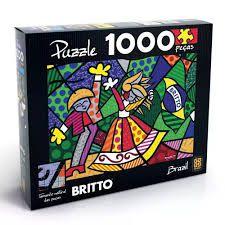 QUEBRA-CABEÇA PUZZLE 1000 ROMERO BRITTO BRAZIL GROW- 2715