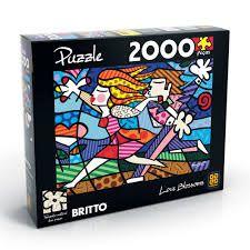 QUEBRA-CABEÇA PUZZLE 2000 ROMERO BRITTO LOVE BLOSSOMS GROW- 2869