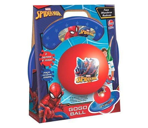 BRINQUEDO PULA-PULA GO GO BALL SPIDER-MAN LIDER- 2929