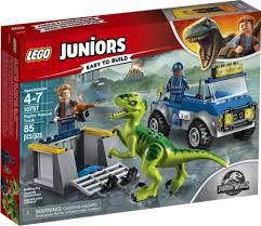 LEGO JUNIORS - CAMINHÃO RESGATE DE RAPTOR JURASSIC WORLD - 10757