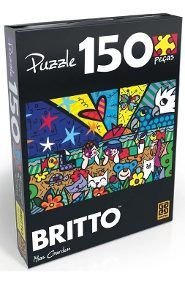 QUEBRA CABEÇA PUZZLE 150 PÇS ROMERO BRITTO MIAS GARDEN GROW- 2716