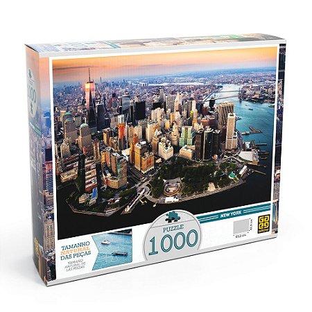 QUEBRA CABEÇA PUZZLE 1000 PÇS NEW YORK GROW- 3409