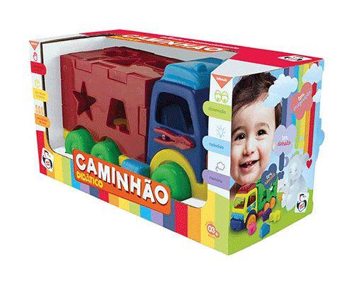 CAMINHÃO DIDÁTICO FORMAS E CORES - PICA PAU
