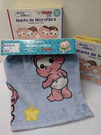 MANTA BRINCADEIRA CASCÃO E CEBOLINHA MICROFIBRA JOLITEX-4156