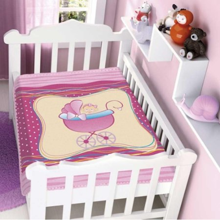 COBERTOR INFANTIL MENINA NO CARRINHO RASCHEL  JOLITEX- 4155