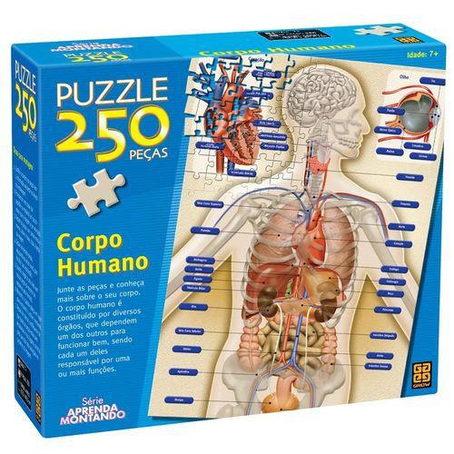 QUEBRA CABEÇA PUZZLE 250 PÇS CORPO HUMANO GROW- 2443