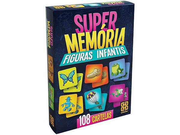 JOGO SUPERMEMORIA FIGURAS INFANTIS GROW- 2646