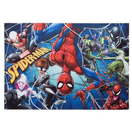 TAPETE MARVEL SPIDER MAN AVENTURA JOY 70X110 CM ANTIDERRAPANTE JOLITEX