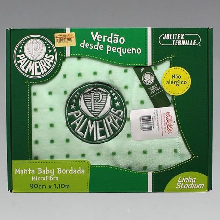 MANTA MICROFIBRA PALMEIRAS VERDE LICENCIADA  JOLITEX- 4467