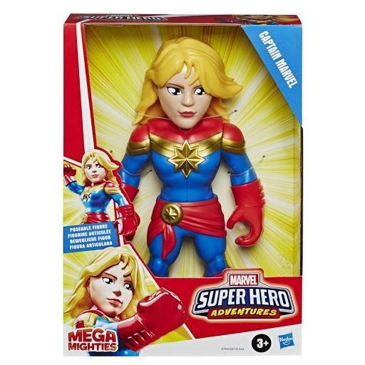 BONECA SUPER HERO FIGURA 10 CAPITÃ MARVEL HASBRO-  7933