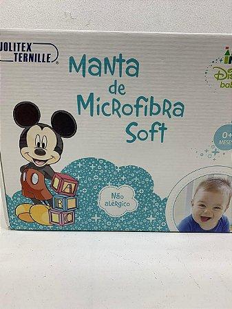MANTA MICKEY E PLUTO MICROFIBRA JOLITEX- 8156