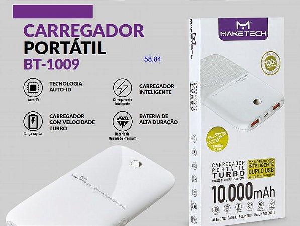 CARREGADOR PORTATIL 2 SAIDAS USB COM LED MAKETECH