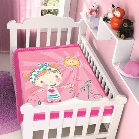 COBERTOR INFANTIL BOM SONO RASCHEL ROSA JOLITEX- 4155