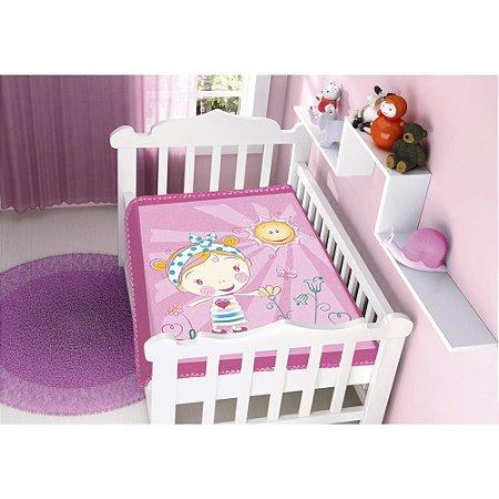 COBERTOR INFANTIL BOM SONO RASCHEL PINK JOLITEX- 4707